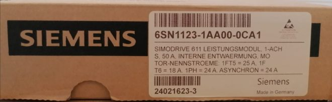 6SN1123-1AA00-0CA1 LT-Modul 50A Simodrive 611 Siemens Versione A