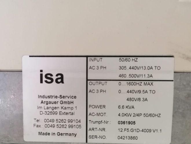 Azionamento KEB ISA 12.F5.G1D-4009